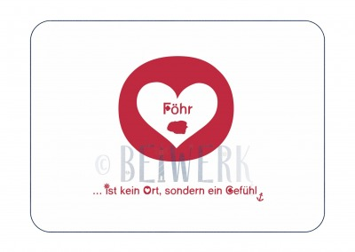 Postkarte Föhr - Gefühl PK-151