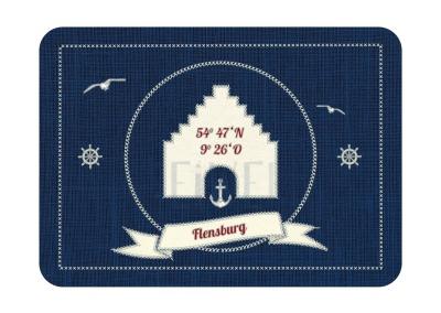 Postkarte Flensburg blue PK-26