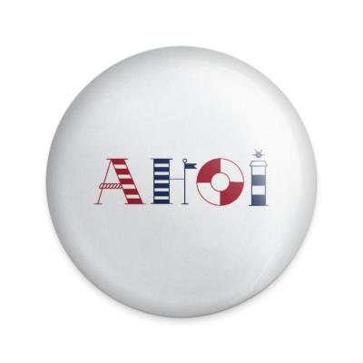 Button Ahoi Buchstaben