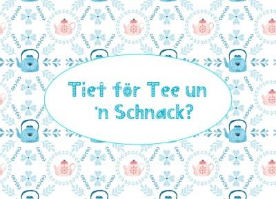 Postkarte Tiet för schnacken
