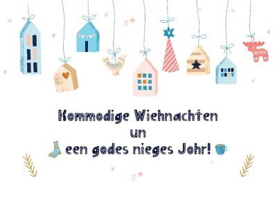 Postkarte Kommodige Wiehnachten - Nachdruck Oktober