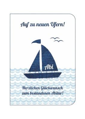 Grußkarte/Doppelkarte Abitur UK-36