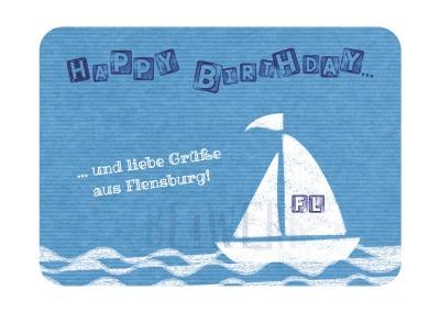 Postkarte individuell Birthday Mit Ihrem Wunschort