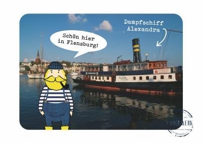 Postkarte Fiete und die Alexandra erscheint