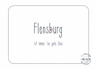 Postkarte Flensburg - Idee