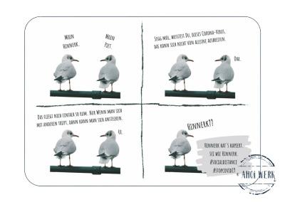 Postkarte Hinnerk und Piet