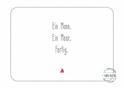 Postkarte Ein Mann Ein Meer