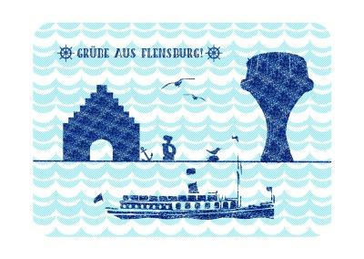 Postkarte maritimes Flensburg PK-23