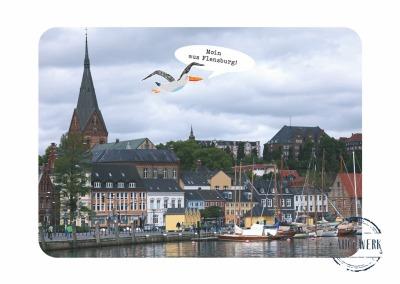 Postkarte Moin aus Flensburg
