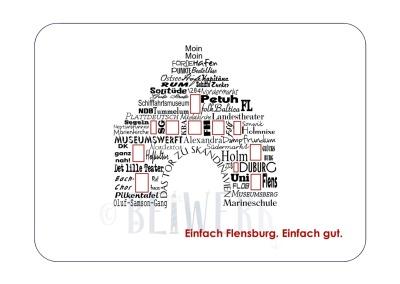 Postkarte individuell Word-Cloud Mit Ihrem Wunschort
