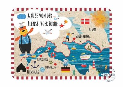 Postkarte individuell Landkarte Mit Ihrem Wunschort