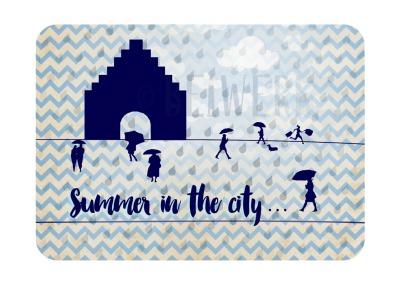Postkarte Summer in the City Flensburg