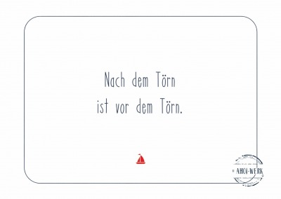 Postkarte Törn