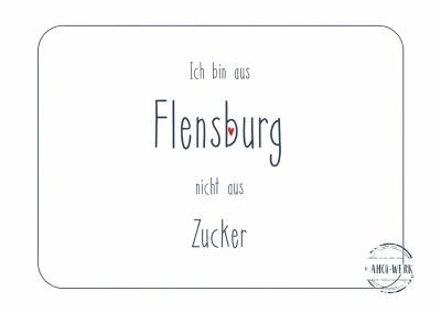 Postkarte Flensburg - Zucker