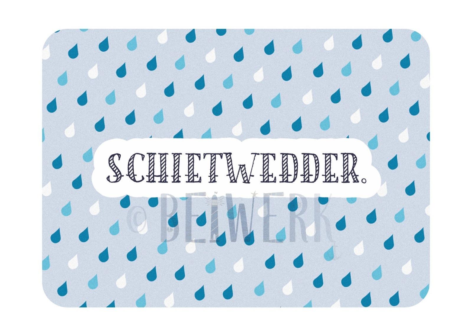 Postkarte Schietwedder - 1