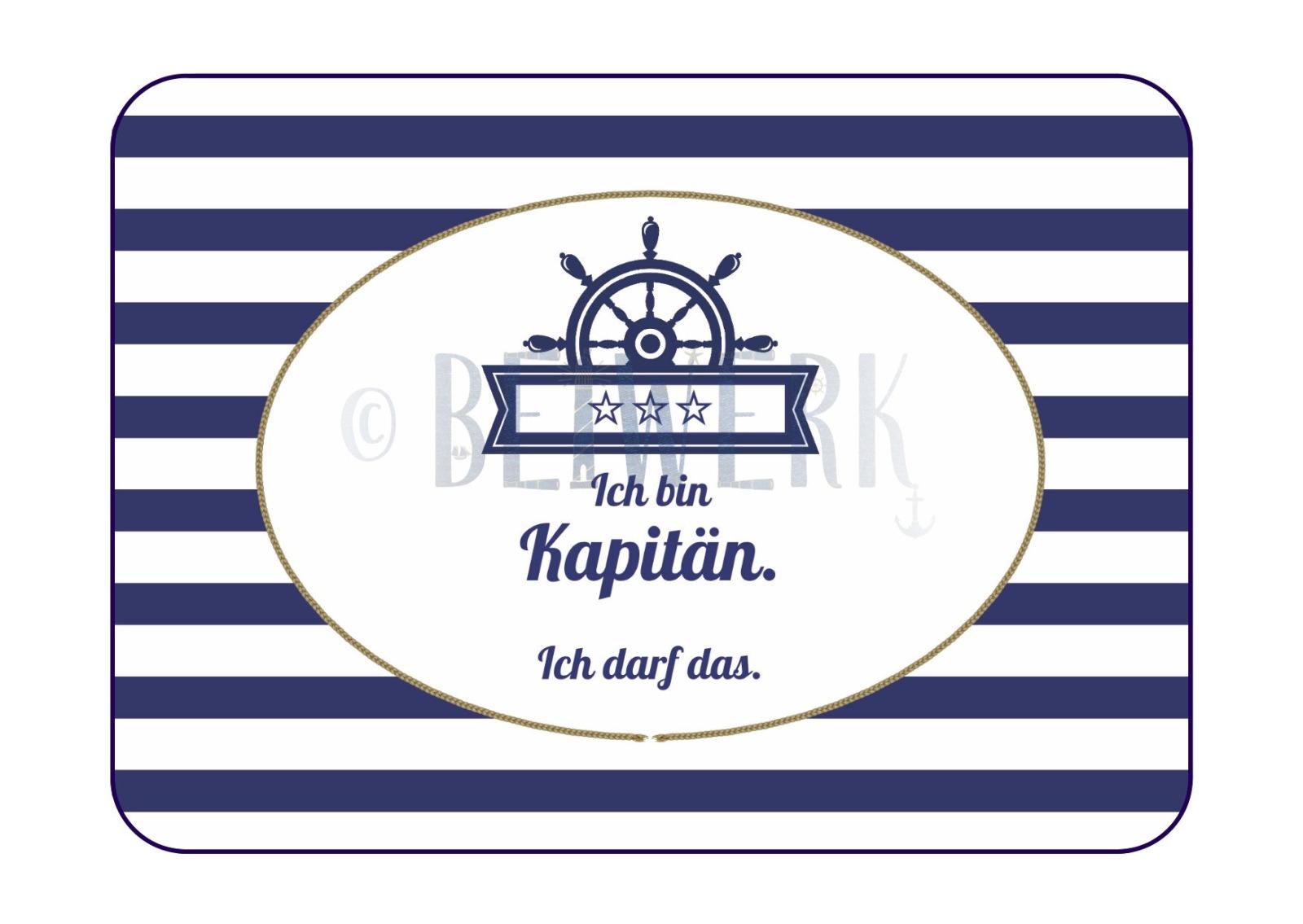 Postkarte Ich bin der Kapitän - 1