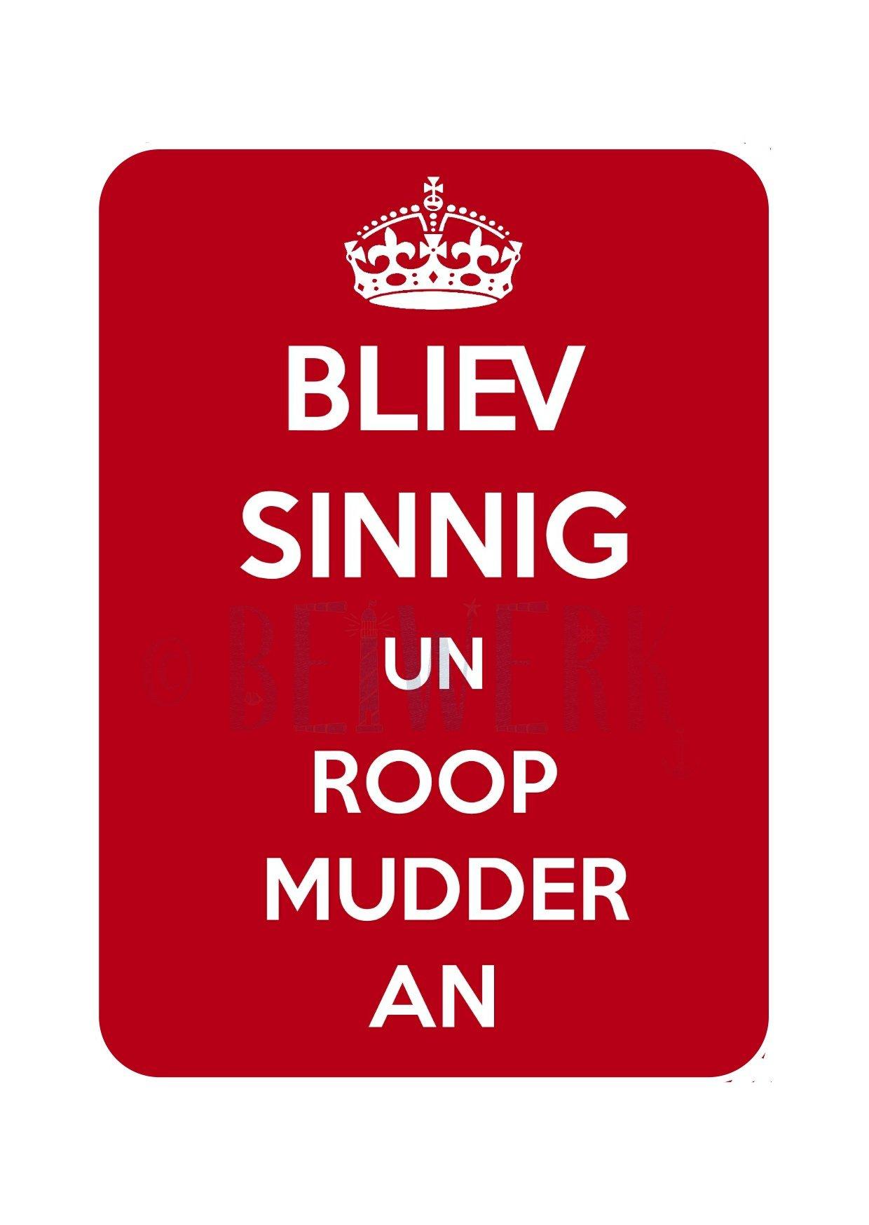 Postkarte Bliev sinnig un roop Mudder an - 1