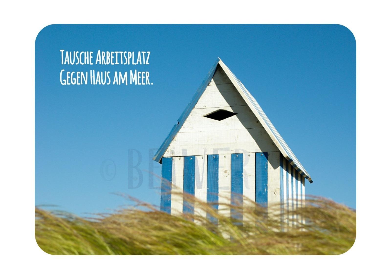 Postkarte Haus am Meer - 1