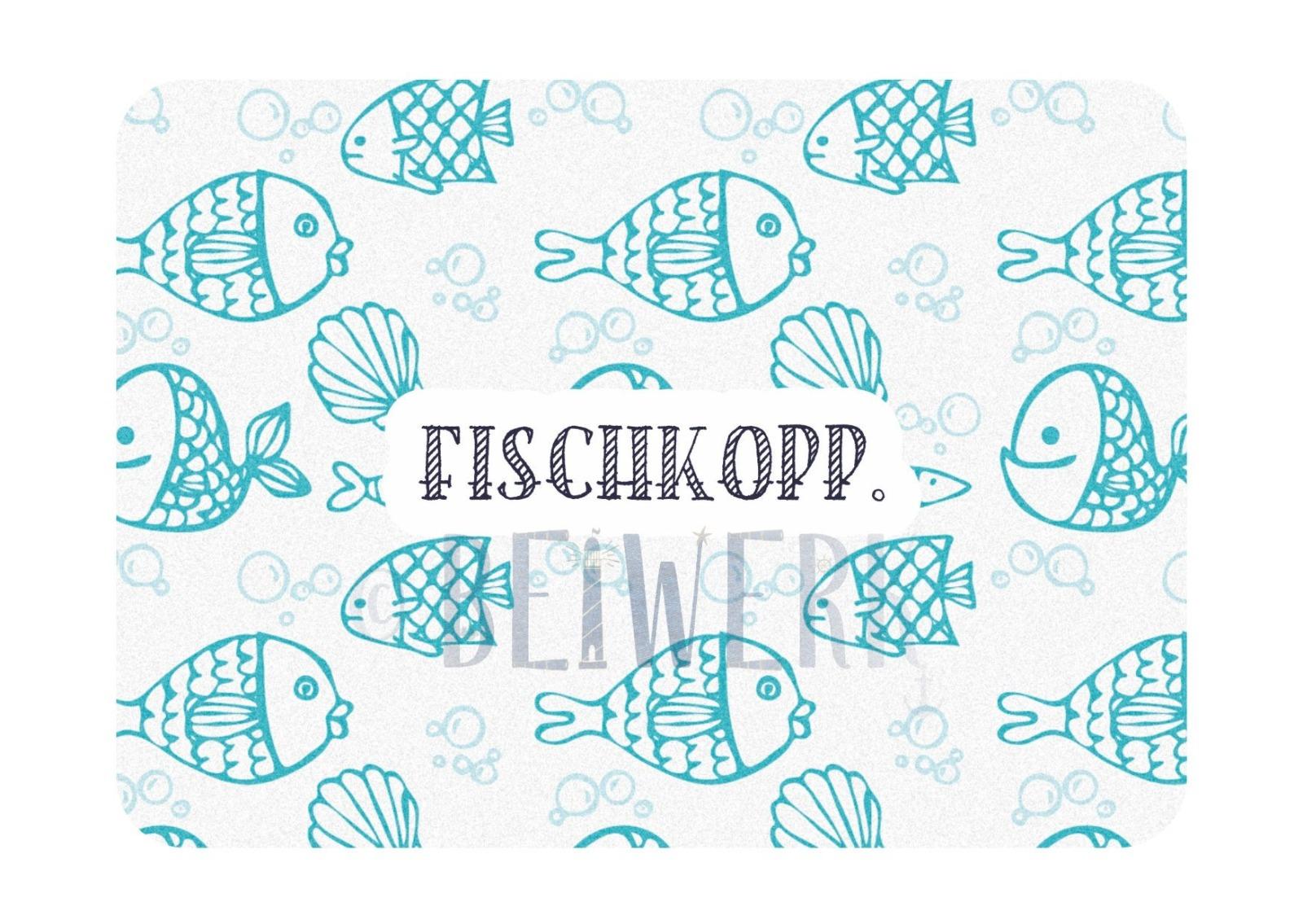 Postkarte Fischkopp - 1