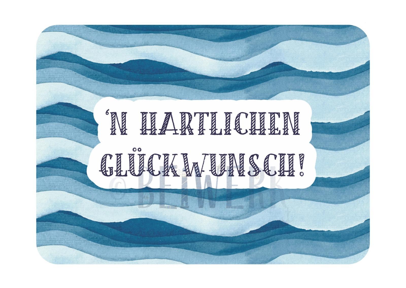 Postkarte Hartlichen Glückwunsch - 1