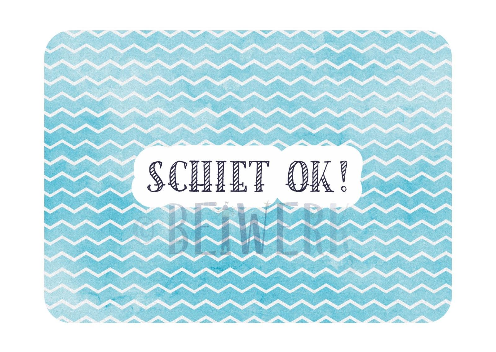 Postkarte Schiet ok - 1