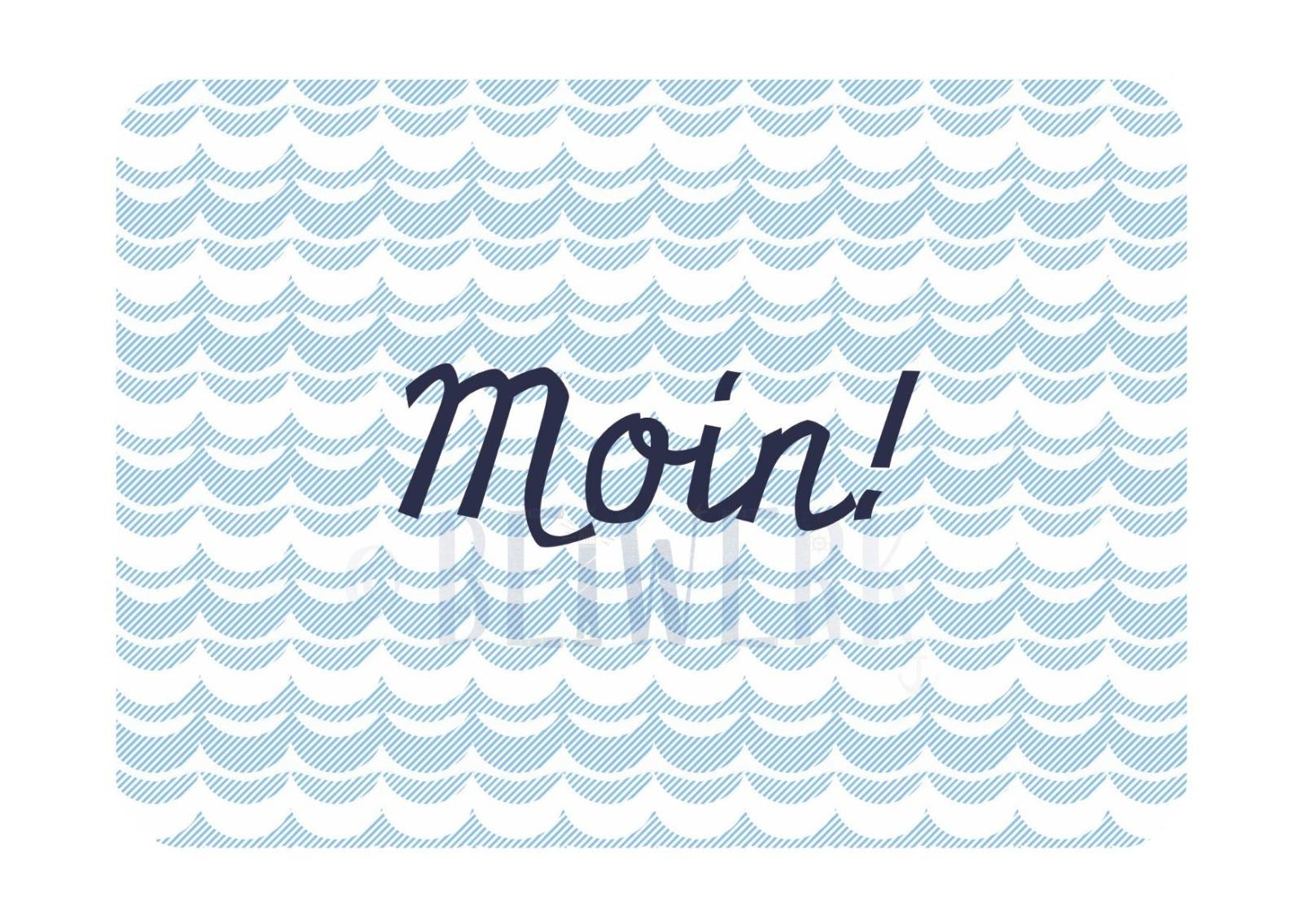 Postkarte Moin - 1