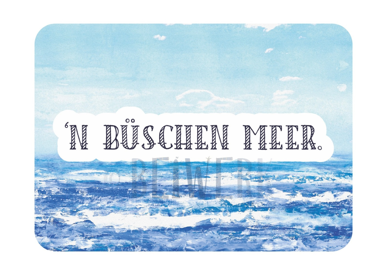 Postkarte n büschen Meer - 1