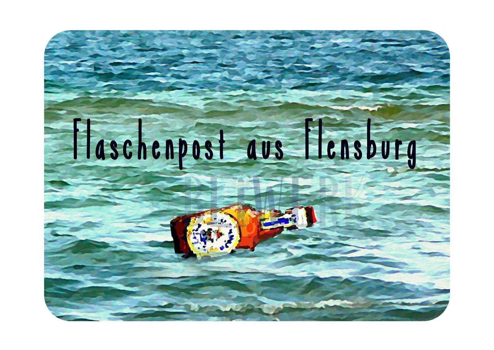 Postkarte Flaschenpost aus Flensburg - 1