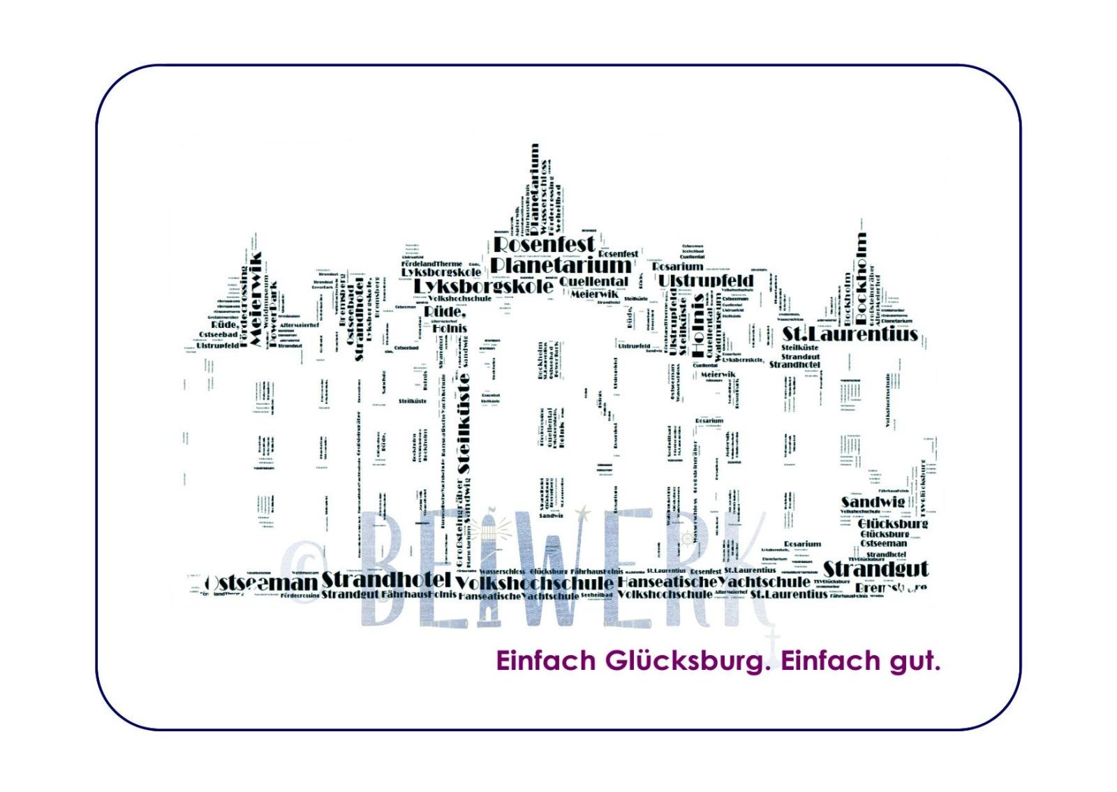Postkarte Glücksburg - 1