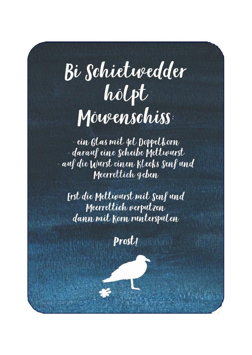 Postkarte Möwenschiss - 1