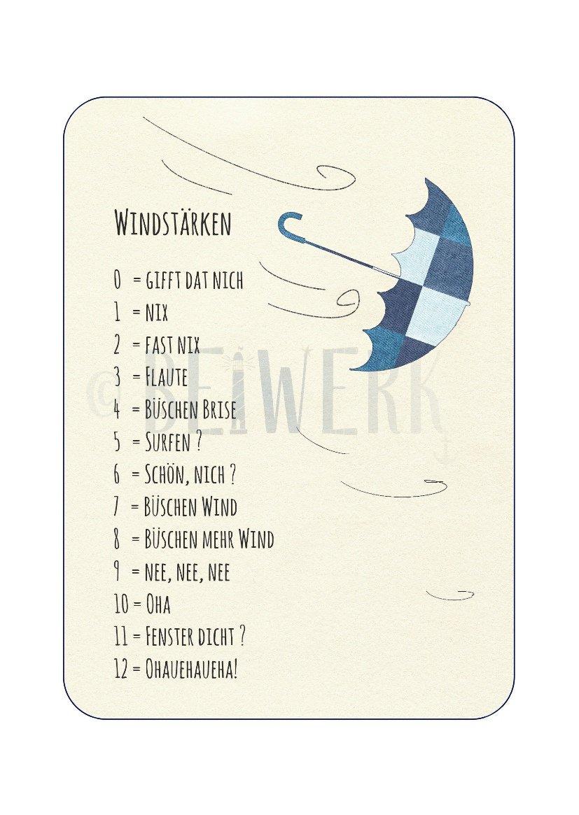 Postkarte Windstärken - 1