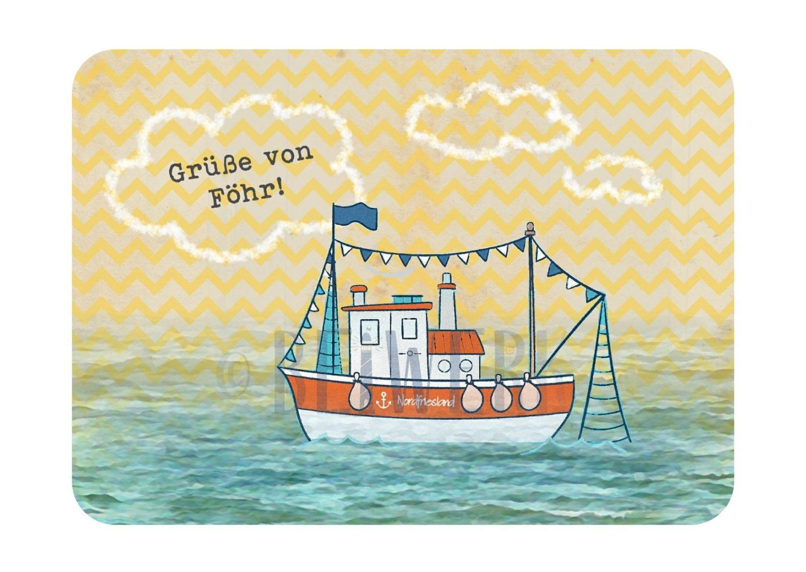 Postkarte Grüße von Föhr - 1