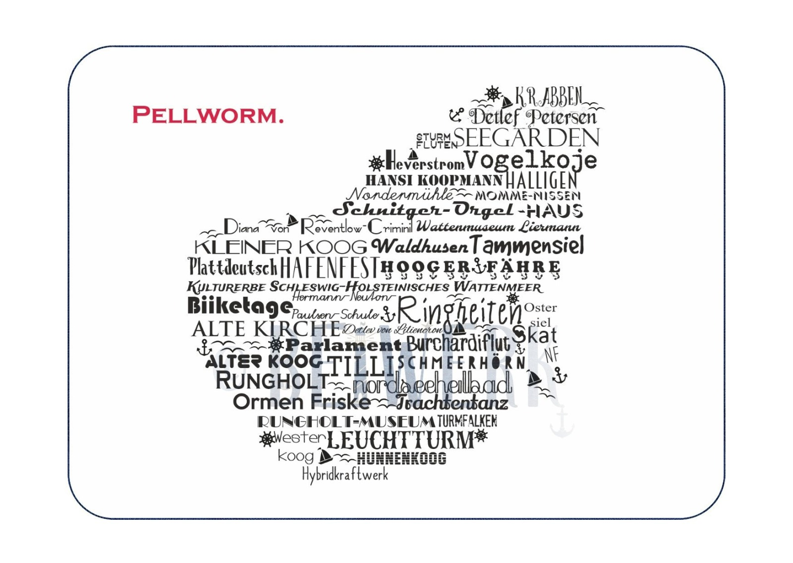 Postkarte Pellworm - 1