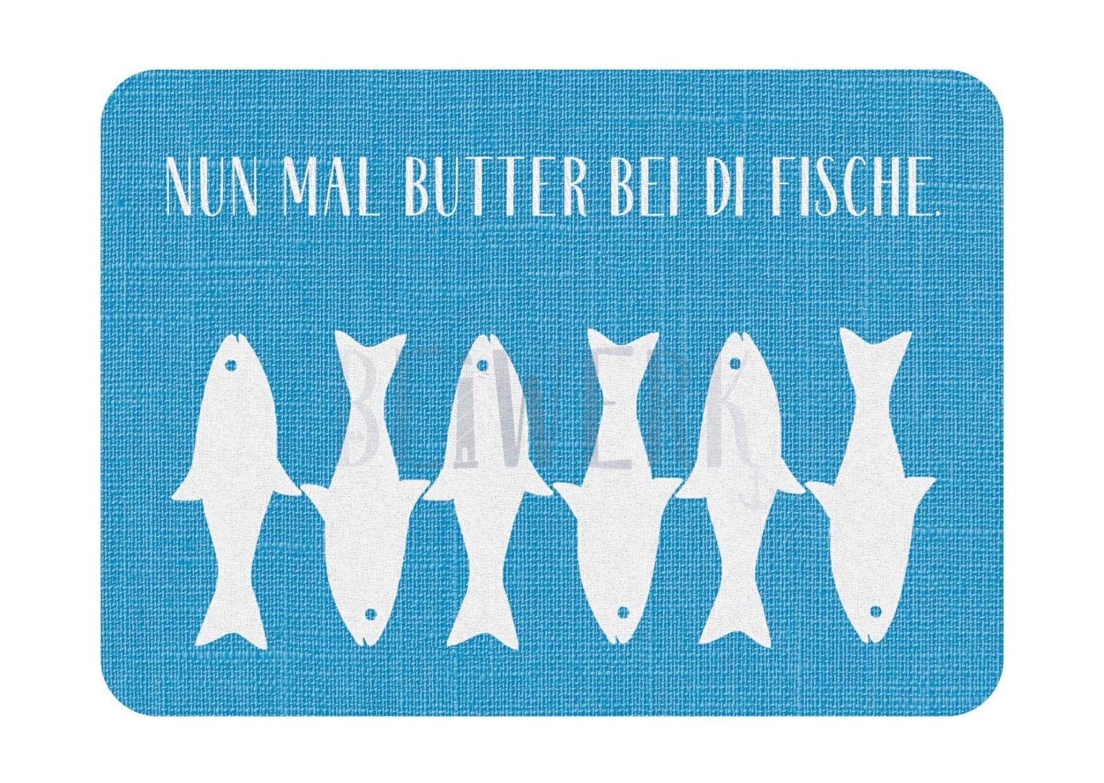 Postkarte Butter bei die Fische