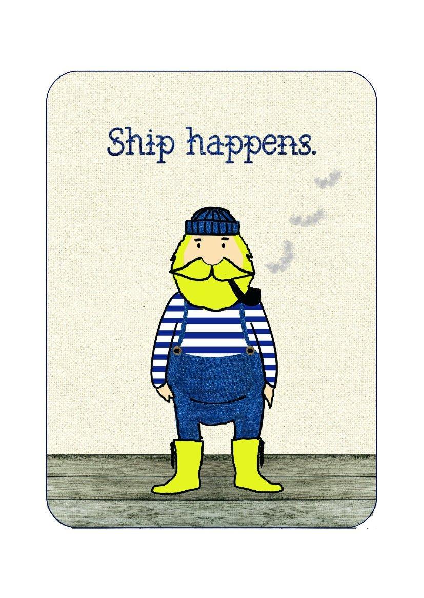 Postkarte Ship happens - 1
