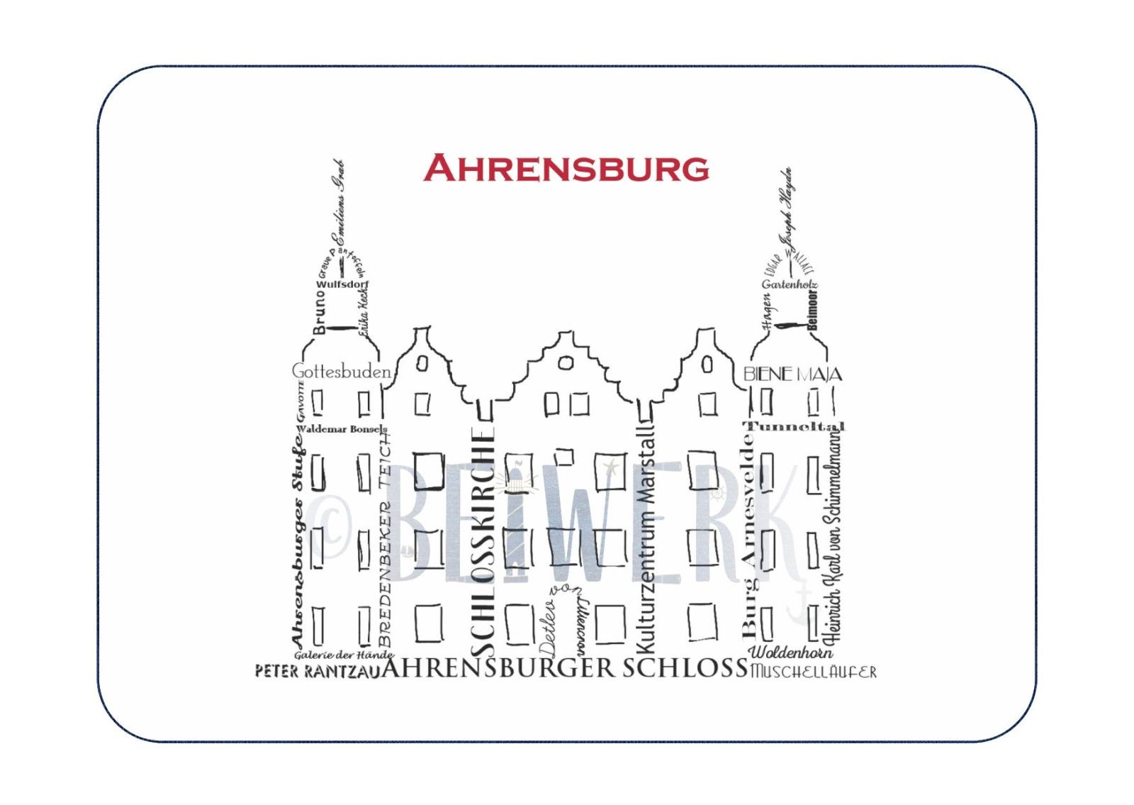 Postkarte Ahrensburg Schloss - 1