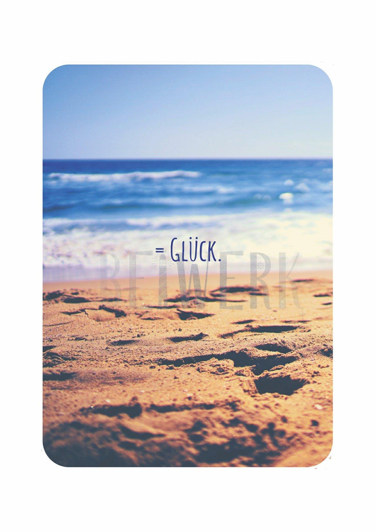 Postkarte Glück - 1