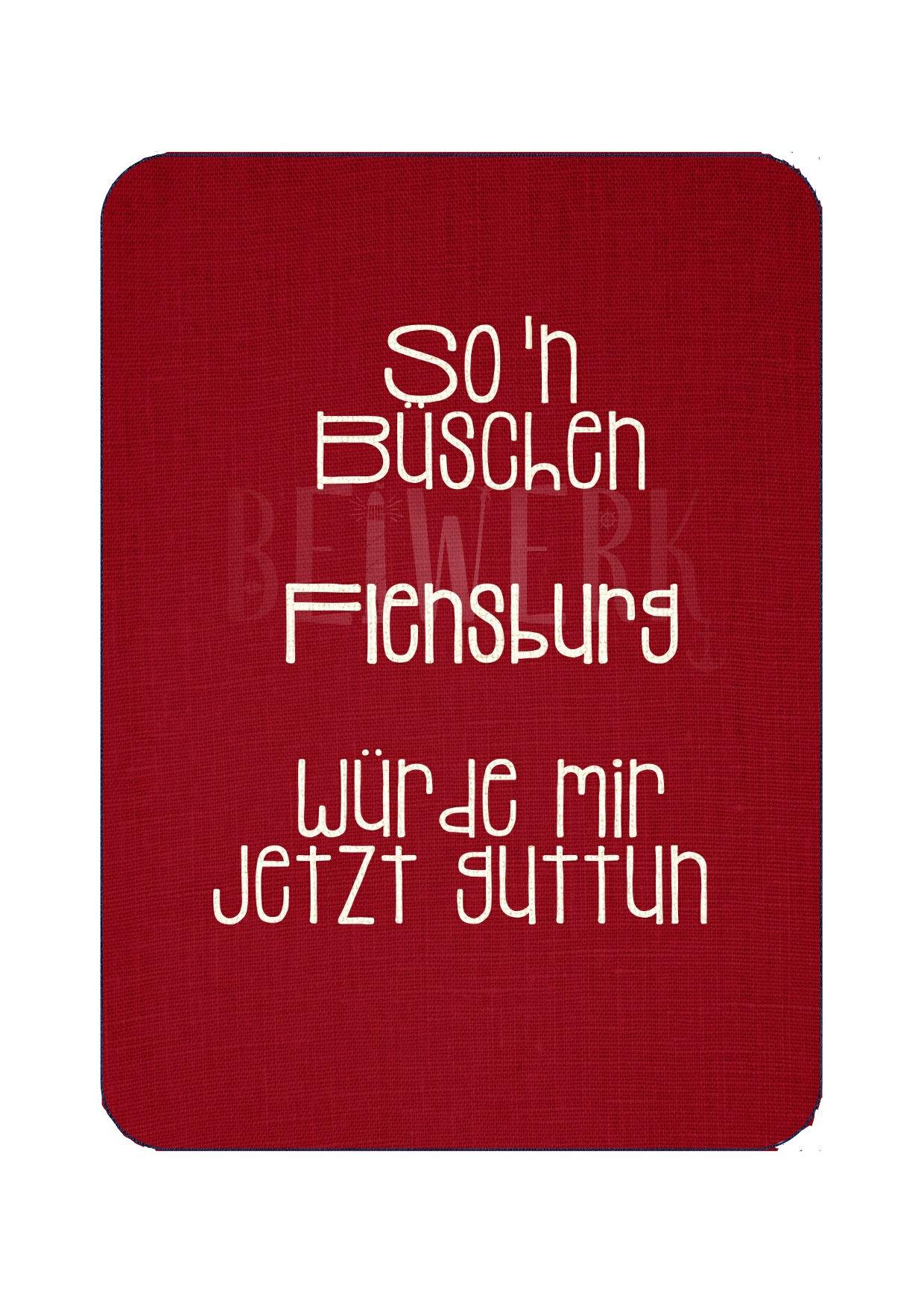 Postkarte Büschen Flensburg - 1