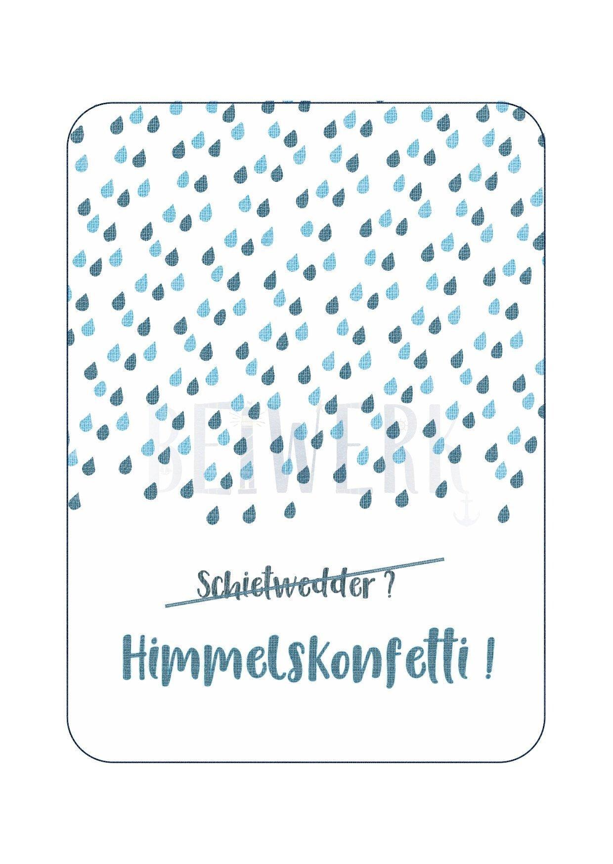 Postkarte Himmelskonfetti - 1