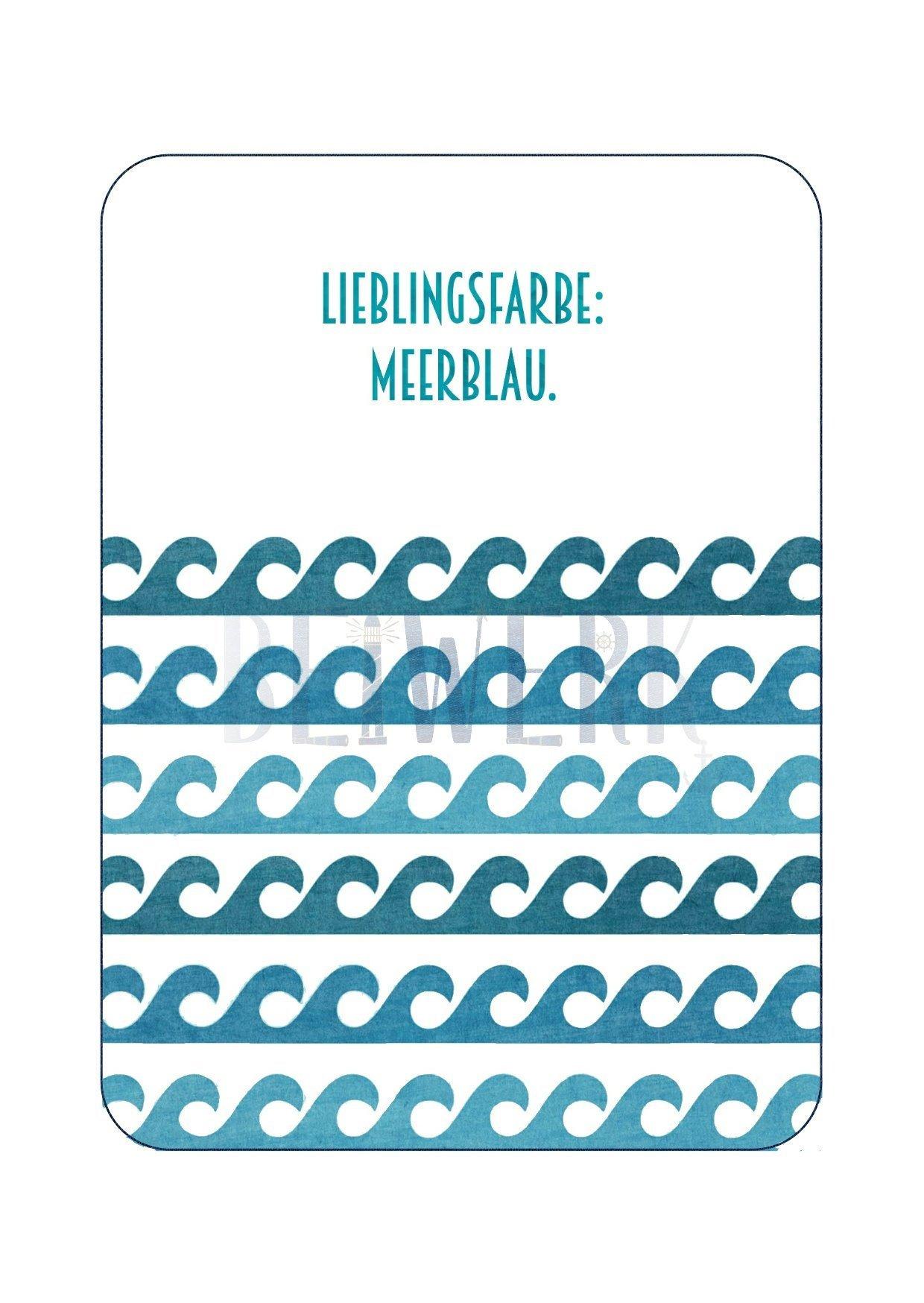 Postkarte Meerblau - 1