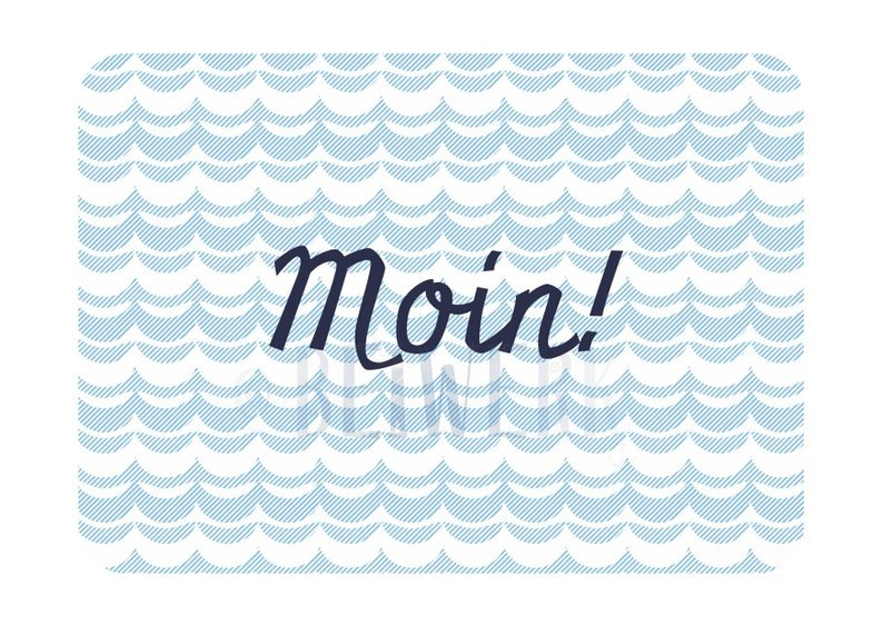 Mini-Karte Moin Visitenkartenformat - 1
