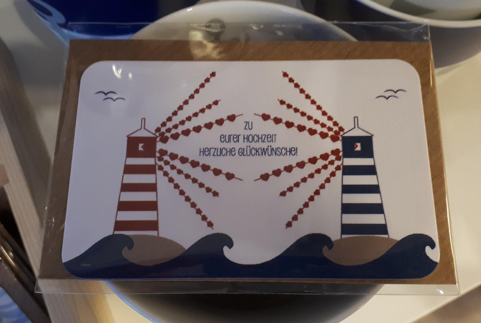 Mini-Karte Hochzeit Visitenkartenformat