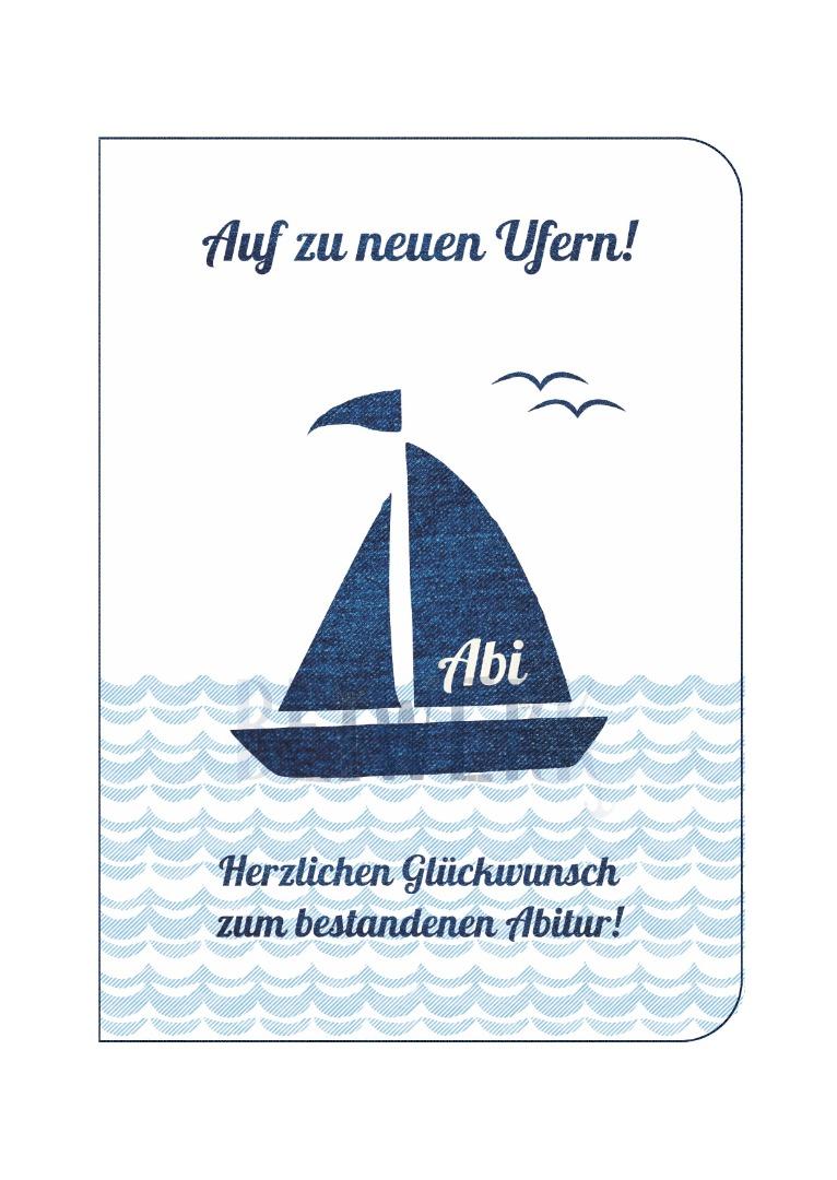 Grußkarte Abitur - Ufer - 1