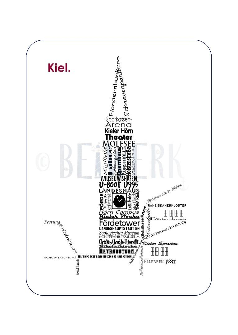 Postkarte Kiel - 1