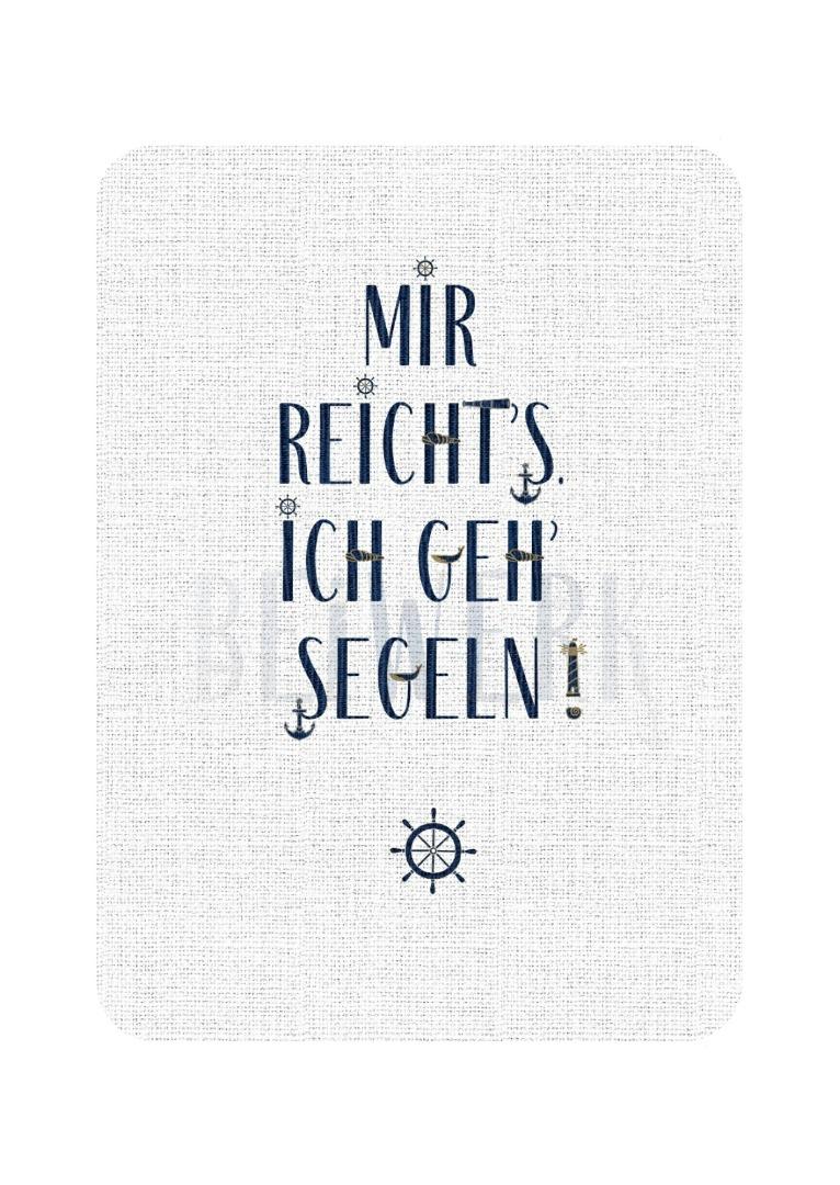 Postkarte Ich geh segeln - 1