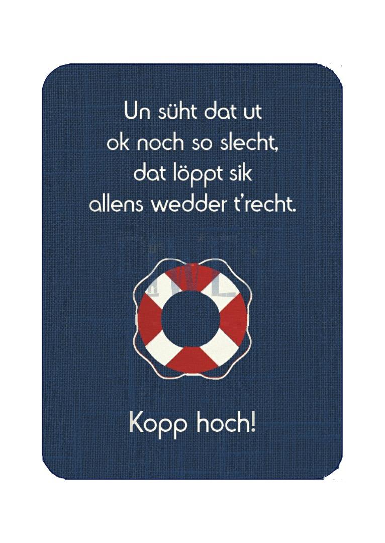 Postkarte Kopp hoch - 1