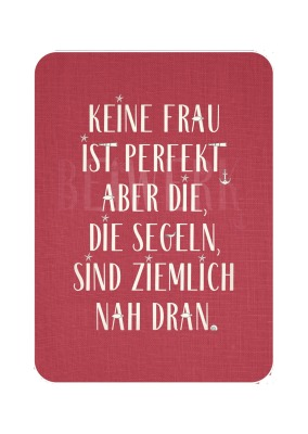Postkarte Seglerfrau