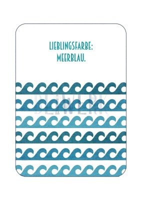 Postkarte Meerblau
