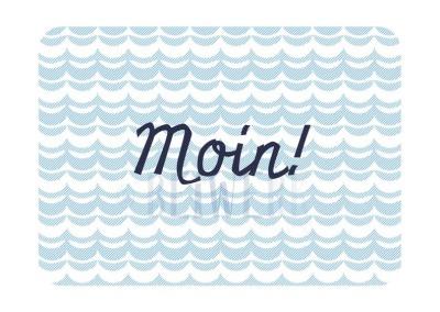 Mini-Karte Moin Visitenkartenformat