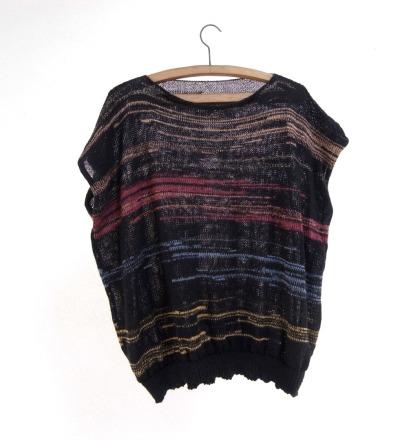 Shirt CLEM II - Golddurchwirktes Strickshirt aus Merinowollmix